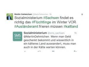 Almanya'da bakanlıktan ırkçı tweet: Parayı alıyorsan soğukta da beklersin