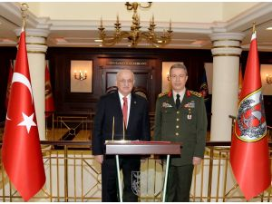 Meclis Başkanı Kahraman, Genelkurmay Başkanı Akar'ı ziyaret etti