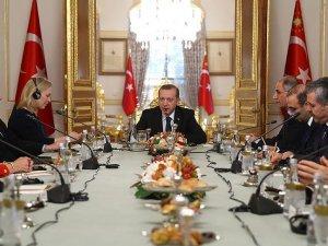 Cumhurbaşkanı Erdoğan ABD Senato Heyetini kabul etti