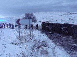 Elazığ'da otobüs devrildi: 26 yaralı