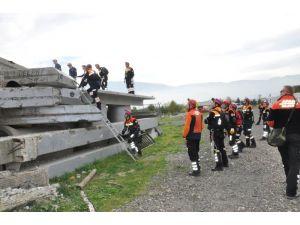 Bursa'da afet eğitim tatbikatı