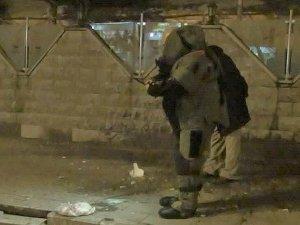 Kırşehir'de Polisevi önünde şüpheli paket fünye ile patlatıldı