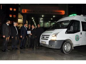 Keçiören Belediyesi Çayıralan'a Cenaze Aracı Hibe Etti
