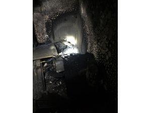 Bandırma'da iş hanında yangın