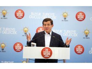 Başbakan Davutoğlu, Öğle Yemeğini Doğu Ve Güneydoğu'dan Gelen İl Ve İlçe Başkanlarıyla Yiyecek