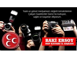 10 Ocak Çalışan Gazeteciler Günü Kutlaması