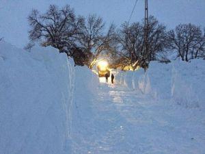 Hakkari'de Karla Mücadele Çalışması Sürüyor