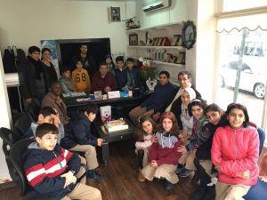 Özel İrfan'lı öğrencilerinden gazetecilere anlamlı ziyaret