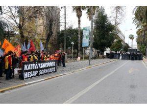 Antalya'da 'Gergin' 10 Ekim Ankara Anması