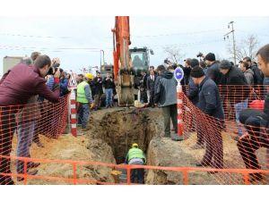 Ergene Kanalizasyon Ve Yağmur Suyu İnşaatının Temeli Törenle Atıldı