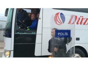 Düzcespor Kafilesi Saldırıya Uğradı