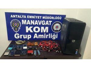 Manavgat KOM'dan Kaçak Telefon Baskını