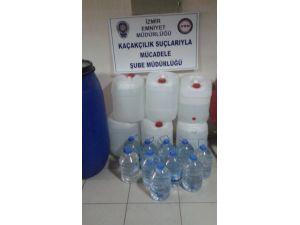 İzmir'de sahte içki imal eden bir kişi tutuklandı