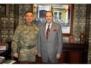 İl Jandarma Komutanı Aslan'dan, SESOB Başkanı Köksal'a Ziyaret