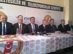 Bakan Bülent Tüfenkci Malatyalı Gazetecileri Ziyaret Etti