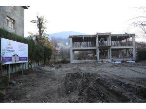 Kurtköy Kültür Merkezi Kaba İnşaatı Kısa Sürede Tamamlandı