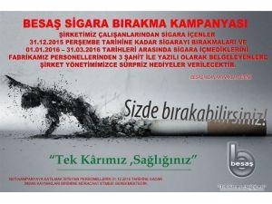 Besaş'tan Ödüllü Sigara Bırakma Kampanyası