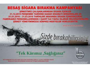 Sigarayı bıraktığını belgeleyen ödüllendirilecek