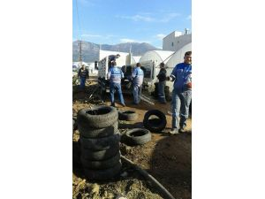Kumluca'da 30 Ton Atık Araç Lastiği Toplandı