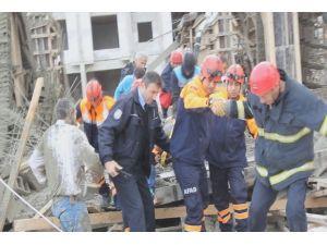 Rize'de AVM İnşaatı'nda Çökme Meydana Geldi : 4 Yaralı