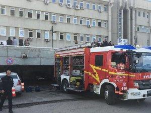 Ankara Emniyet Müdürlüğü Yabancılar Şube Müdürlüğü'nde yangın