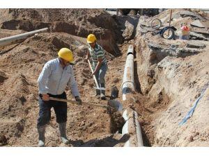 Su Ve Kanalizasyon İşleri Müdürlüğü, 10 Bin 715 Metre Şebeke Hattı Döşedi