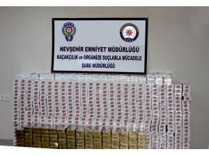 Nevşehir'de gümrük kaçağı sigara ele geçirildi