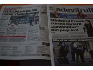 Romanya basını İstanbul'daki saldırıyı birinci sayfadan verdi