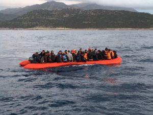 Antalya'dan Meis Adası'na Geçmeye Çalışan 57 Suriyeli Yakalandı