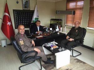 Garnizon Komutanı Özen'den Başkan Aydoğan'a Ziyaret