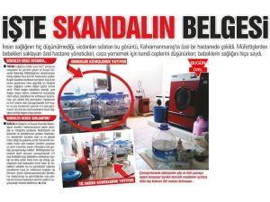 Kahramanmaraş'ta yeni doğan bebeklerin çamaşırhanede saklandığı iddia edildi