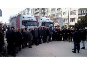 Bayır-bucak Türkmenlerine Yardım Tır'ları Yola Çıktı