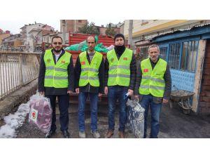 Müslüman Dilendirmezler Cemiyeti yardıma muhtaç aileleri yardım dağıttı