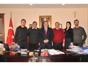Türkiye Halkoyunları Federasyonu Temsilcilerinden Başkan Mirza'yı Ziyaret
