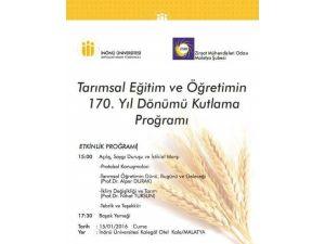Tarımsal Eğitim Ve Öğretimin 170. Yıl Dönümü Kutlanacak