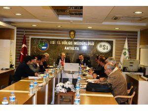 DSİ'de Aksu Çayı Islahı Değerlendirme Toplantısı