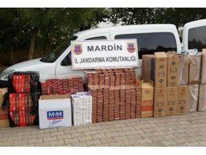 Mardin'de Kaçak Sigara Ele Geçirildi