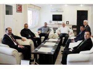 Rektör Şimşek'ten Saray Kaymakamı Arslan'a Ziyaret