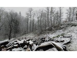 Ereğli'nin yüksek kesimlerinde kar yağışı başladı