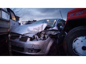 Ereğli'de zincirleme kaza: 2 yaralı