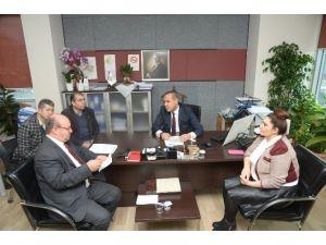 Çgc'den Başkan Sözlü'ye Ziyaret