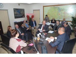 Çukurova Gazeteciler Cemiyeti'nden Başkan Hüseyin Sözlü'ye ziyaret