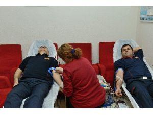 İtfaiyeden Kan Bağışı