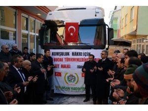 Kelkit'ten Bayırbucak Türkmenlerine 50 Ton UN