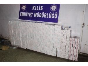 Kilis'te 9 Bin 590 Paket Kaçak Sigara Yakalandı