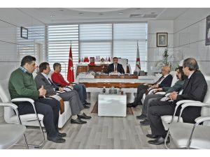 Yerel gazete yöneticilerinden Elazığ TSO'ya teşekkür ziyareti