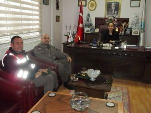 Komutanlardan Başkan Güneş'e Ziyaret