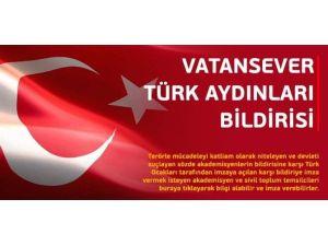 Türk Ocakları'ndan 'Vatansever Türk Aydınları' Bildirisi