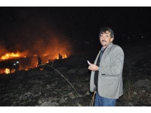 Üniversite Arazisinde Çıkan Yangın Korkuttu