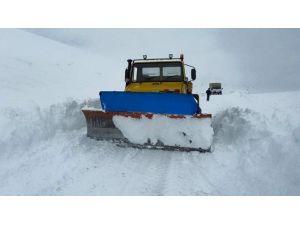Erzurum'da Kar Ve Tipi Nedeniyle Kapanan Köy Yolları Ulaşıma Açılıyor
